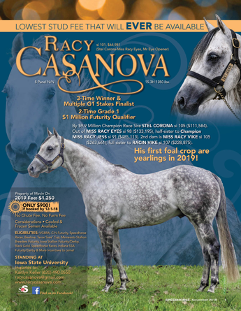 Racy Casanova April 2017 Speedhorse Ad